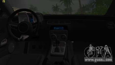Chevrolet Camaro SS 2010 for GTA Vice City inner view