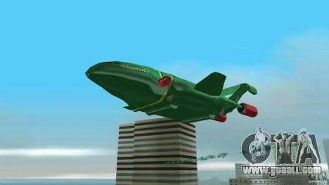 ThunderBird 2 for GTA Vice City back view