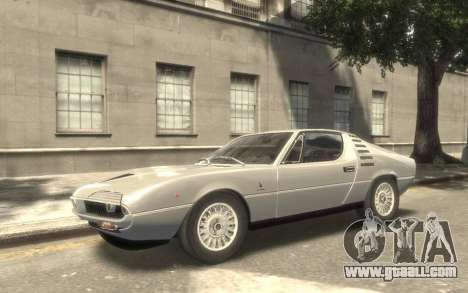 Alfa Romeo Montreal 1970 for GTA 4 back view