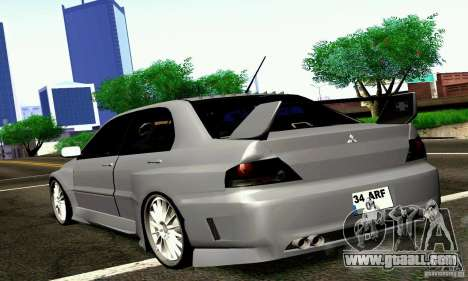 Mitsubishi Lancer Evo VII for GTA San Andreas left view