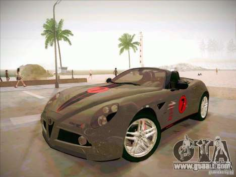 Alfa Romeo 8C Spider for GTA San Andreas side view