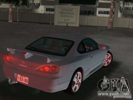 Nissan Silvia spec R Light Tuned for GTA Vice City back left view