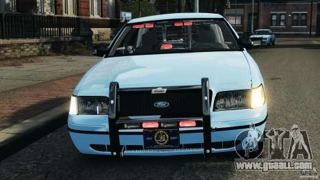Ford Crown Victoria Police Unit [ELS] for GTA 4 bottom view