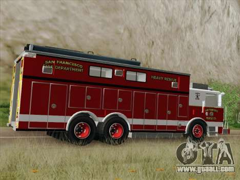 Pierce Walk-in SFFD Heavy Rescue for GTA San Andreas upper view