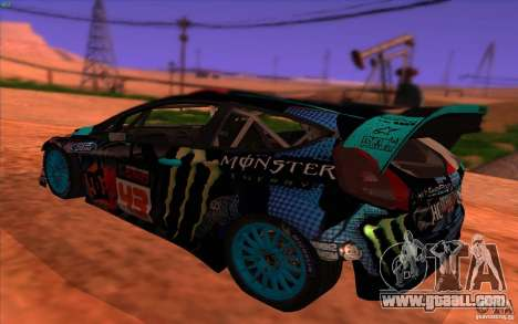 Ford Fiesta H.F.H.V. Ken Block 2013 for GTA San Andreas left view
