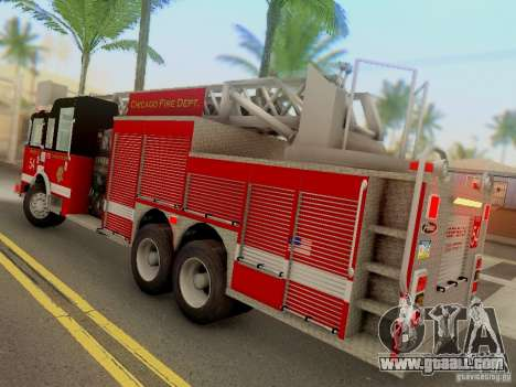 Pierce Tower Ladder 54 Chicago Fire Department for GTA San Andreas back left view