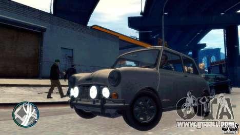 Mini Cooper S for GTA 4 back view