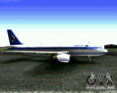 Airbus A-320 Azerbaijan Airlines for GTA San Andreas back left view