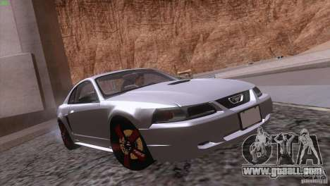 Ford Mustang GT 1999 for GTA San Andreas engine