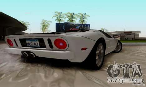 Ford GT 2005 for GTA San Andreas back view