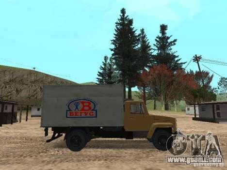 GAZ 3309 CR v2 for GTA San Andreas left view