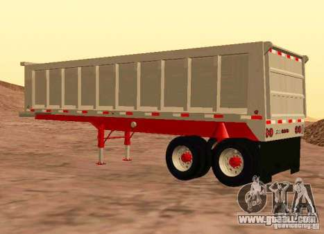 Artict3 Dump Trailer for GTA San Andreas right view