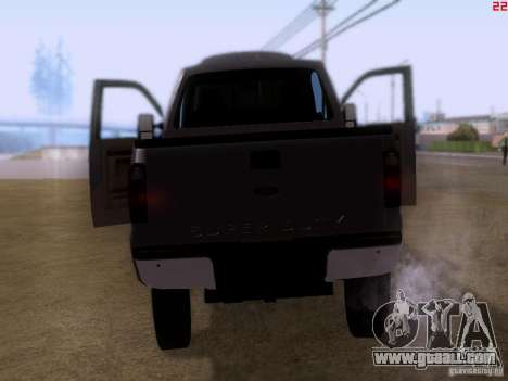 Ford F350 Super Dute for GTA San Andreas side view