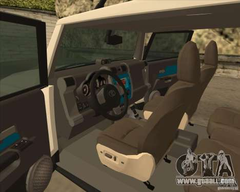 Toyota FJ Cruiser for GTA San Andreas side view