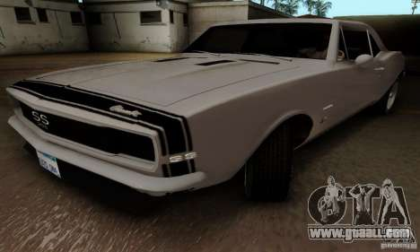 Chevrolet Camaro SS 1967 for GTA San Andreas back left view