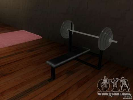 New free weights in the gym for GTA San Andreas