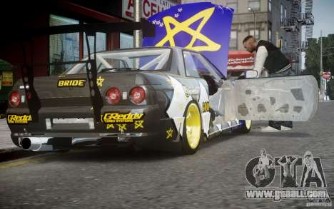 Nissan Skyline R32 FST Drift Korch for GTA 4 back view