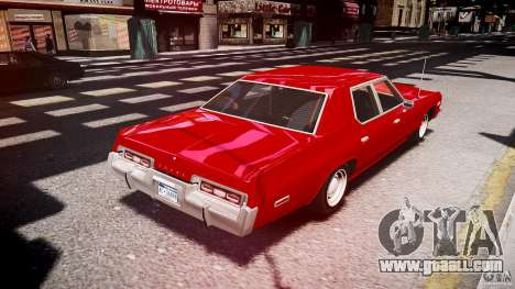 Dodge Monaco 1974 stok rims for GTA 4 side view