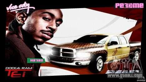 2 Fast 2 Furious Menu Ludacris for GTA Vice City second screenshot