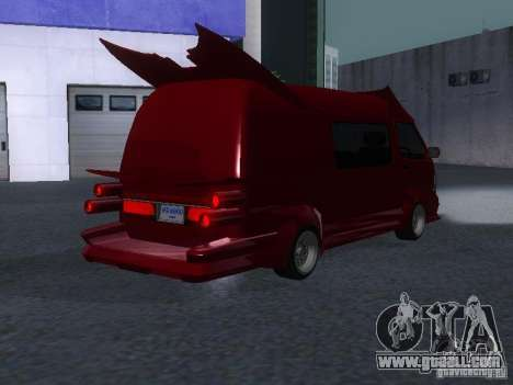 Toyota Hiace Vanning for GTA San Andreas back view