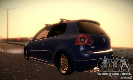 Volkswagen Golf Mk5 GTi for GTA San Andreas back left view