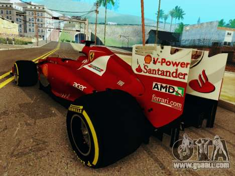 Ferrari F2012 for GTA San Andreas back left view
