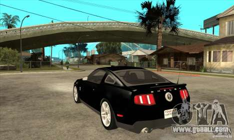 Ford Shelby GT 500 2010 for GTA San Andreas back left view