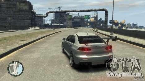Mitsubishi Lancer Evo X Drift for GTA 4 back view