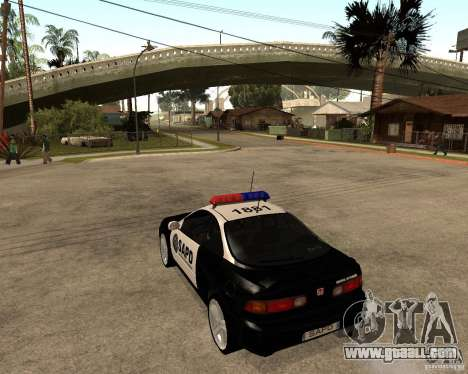 Honda Integra 1996 SA POLICE for GTA San Andreas back left view