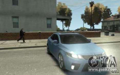 Kia Forte Koup SX for GTA 4 back view