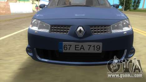 Renault Megane Sport for GTA Vice City left view