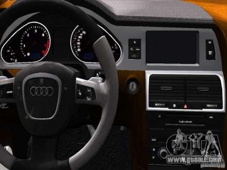 Audi Q7 V12 TDI Quattro Final for GTA 4 interior
