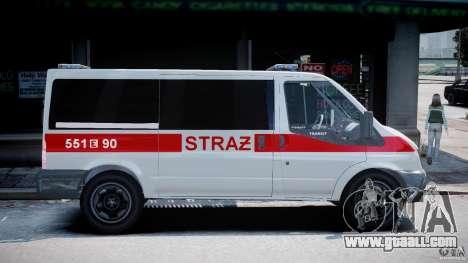 Ford Transit Polish Firetruck [ELS] for GTA 4 back view