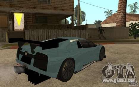 Lamborghini Murcielago R-GT for GTA San Andreas back left view