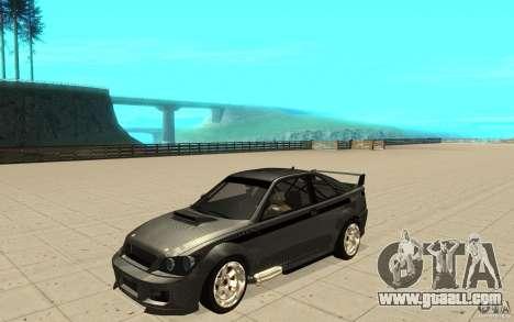 GTA IV Sultan RS FINAL for GTA San Andreas inner view