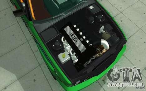 BMW E34 V8 Wide Body for GTA San Andreas bottom view
