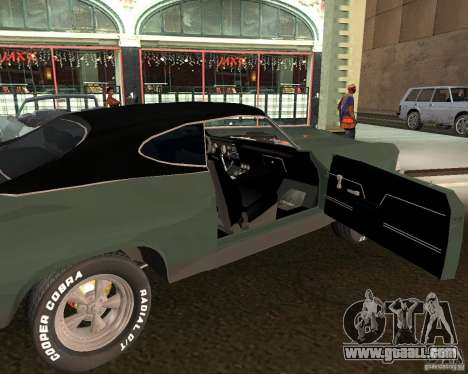 Chevrolet Chevelle 1968 for GTA San Andreas right view