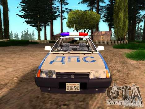 VAZ 2109 Police for GTA San Andreas right view