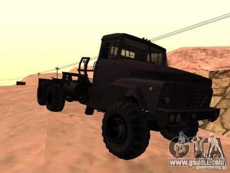 KrAZ 260V for GTA San Andreas back left view