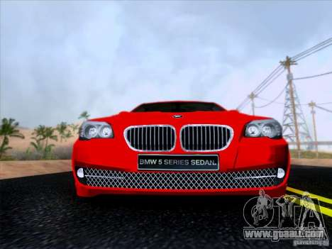 BMW 550i 2012 for GTA San Andreas inner view
