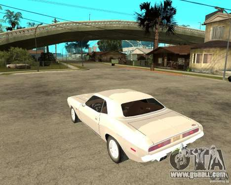 Dodge Challenger R/T Hemi 70 for GTA San Andreas left view