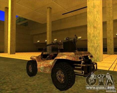 Desert Bandit for GTA San Andreas back left view