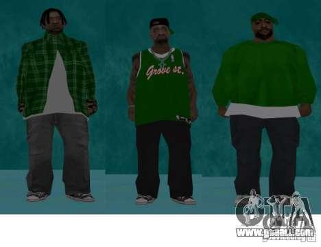 Skins bands HQ for GTA San Andreas third screenshot