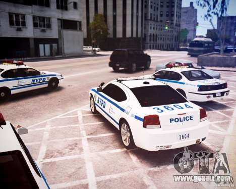 Dodge Charger 2010 NYPD ELS for GTA 4 back left view
