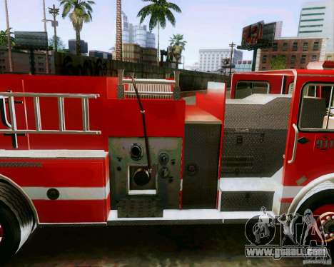 Pumper Firetruck Los Angeles Fire Dept for GTA San Andreas back left view