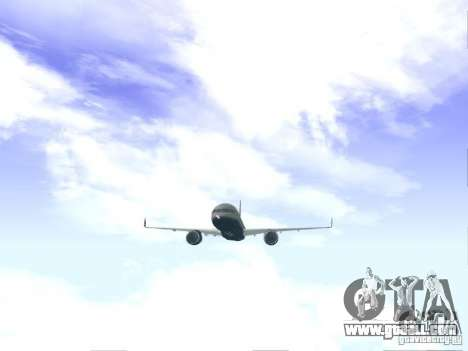 Boeing 757-200 United Airlines for GTA San Andreas right view