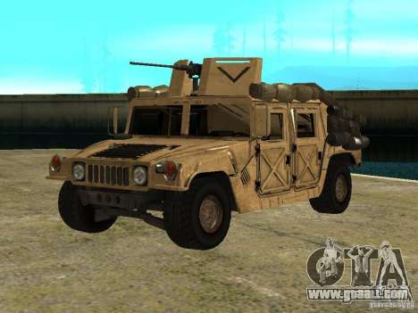 Hummer H1 HMMWV with mounted Cal.50 for GTA San Andreas