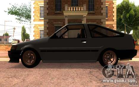 Toyota Corolla Levin GTV 3-door (AE86) for GTA San Andreas left view