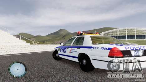 Ford Crown Victoria 2003 NYPD for GTA 4 back left view