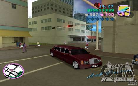 Rolls Royce Silver Seraph for GTA Vice City left view
